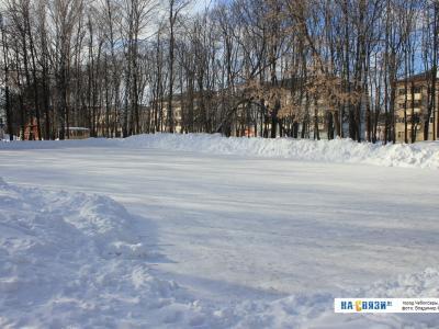 Каток в парке Николаева