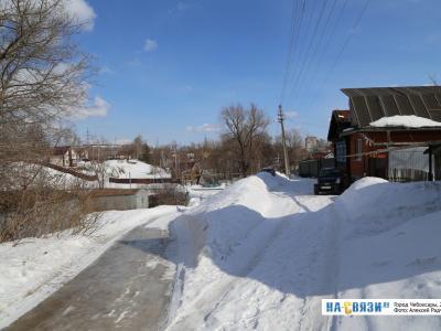 Зима на улице Клары Цеткин