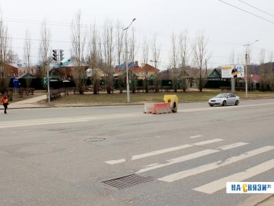 Светофор у кольца на улице Гражданская