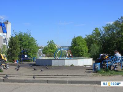 Фонтан у микрорайона Байконур