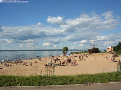 Пляж поселка Сюктерка