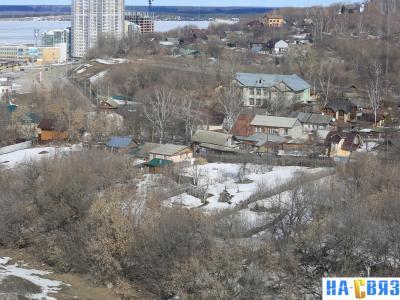 Вид сверху на дома по улице Кленовая