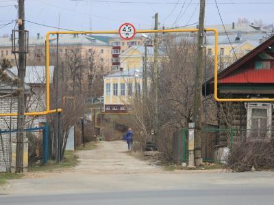Вид на Учительский переулок