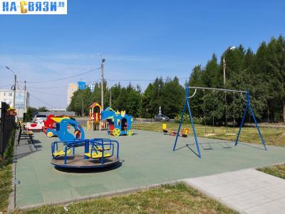 Детская площадка у Пиццы-Ник