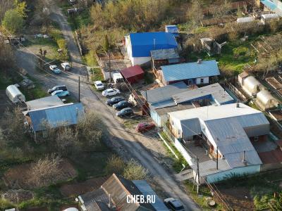 Вид сверху на улицу Восточная (район ХБК)