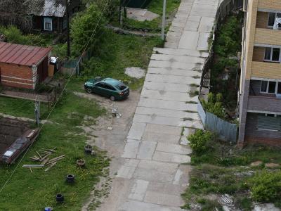 Вид сверху на улицу Рылеева