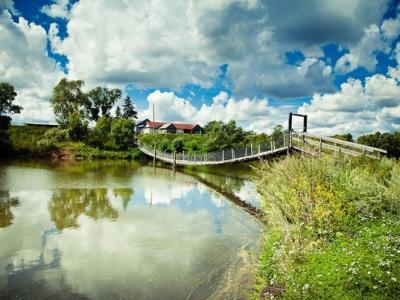Висячий мост через реку Таябинка