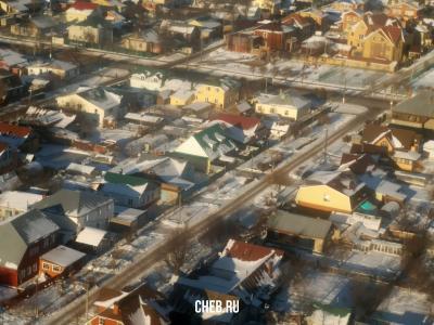 Вид сверху на улицу Бородина