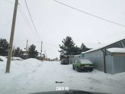 Улица Лучистая зимой