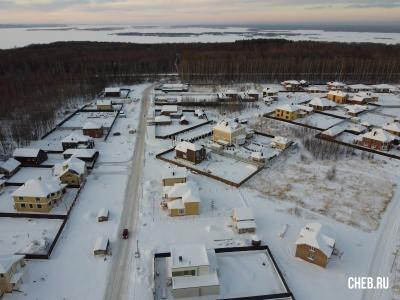 Вид сверху на улицу Спортивная зимой