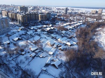 Вид сверху на пер. Белинского зимой