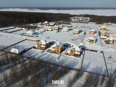 Вид сверху на дома по улице Ивовая