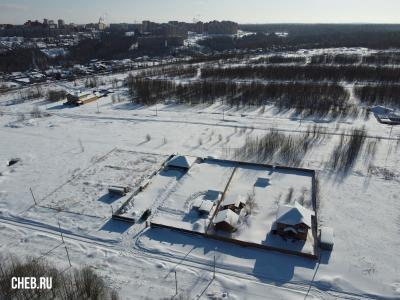 Вид сверху на дома по улице Вербная