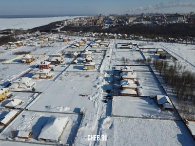 Вид сверху на улицу Ивовая