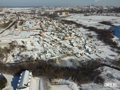 Вид на частный сектор и овраг у улице Докучаева
