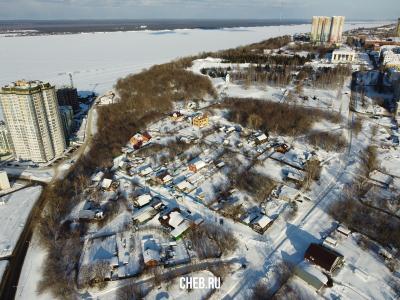 Вид сверху на частный сектор на Восточном косогоре