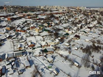 Вид сверху на район улицы Спартака