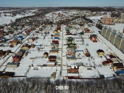 Вид сверху на улицу Молодежная