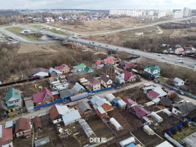 Вид на частный сектор и улицу Гончарова