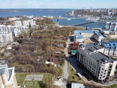 Вид сверху на частный сектор по улицам Герцена