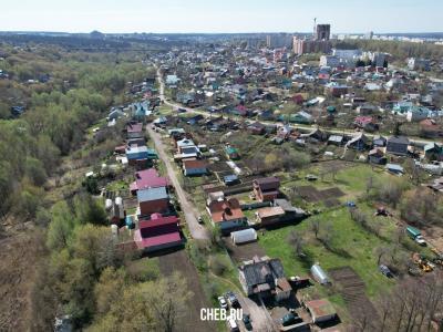 Вид сверху на улицу Яблоневая