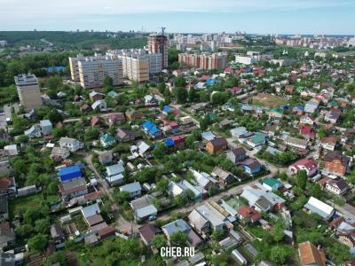 Вид сверху на улицу Кольцова