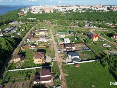 Вид сверху на улицу Брусничная