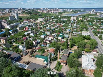 Вид сверху на жилые районы, улица Ватунина