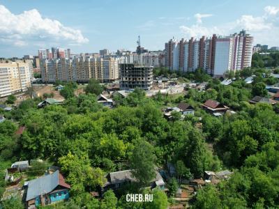 Частный сектор по улице Маяковского, вид на стройку