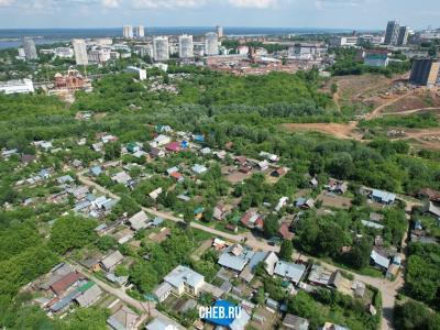 Вид сверху на частный сектор микрорайона Благовещенский