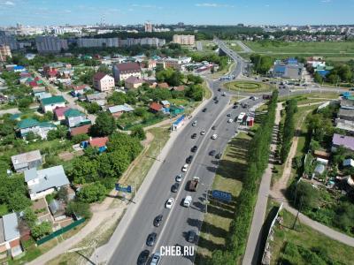 Вид сверху на улицу Зои Космодемьянской