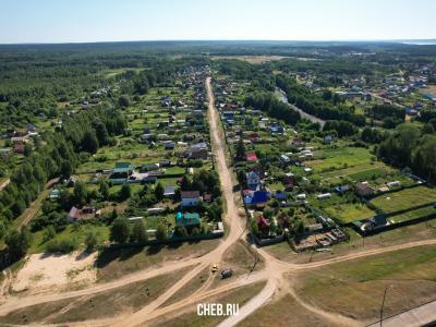 Вид сверху на улицу Мукшумская (пос. Сосновка)