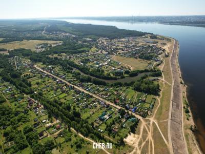 Вид сверху на посёлок Сосновка