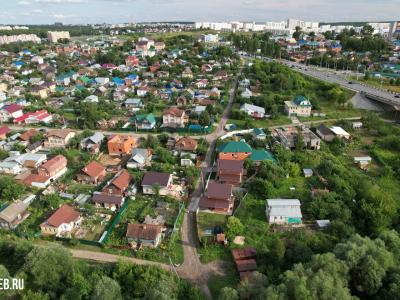 Вид сверху на улицу Полевая