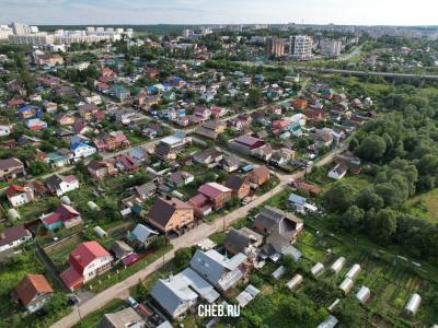 Вид на частный сектор. Улица Куйбышева