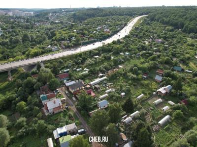 Вид на улицу Рябиновская и Октябрьский мост