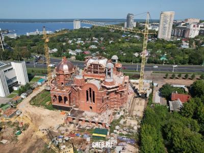 Строительство храма Сергия Радонежского