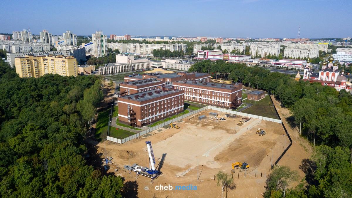 Спортивная площадка Кадетской школы, сентябрь 2018 года