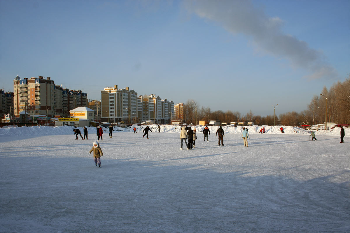 Каток в парке 500-летия Чебоксар
