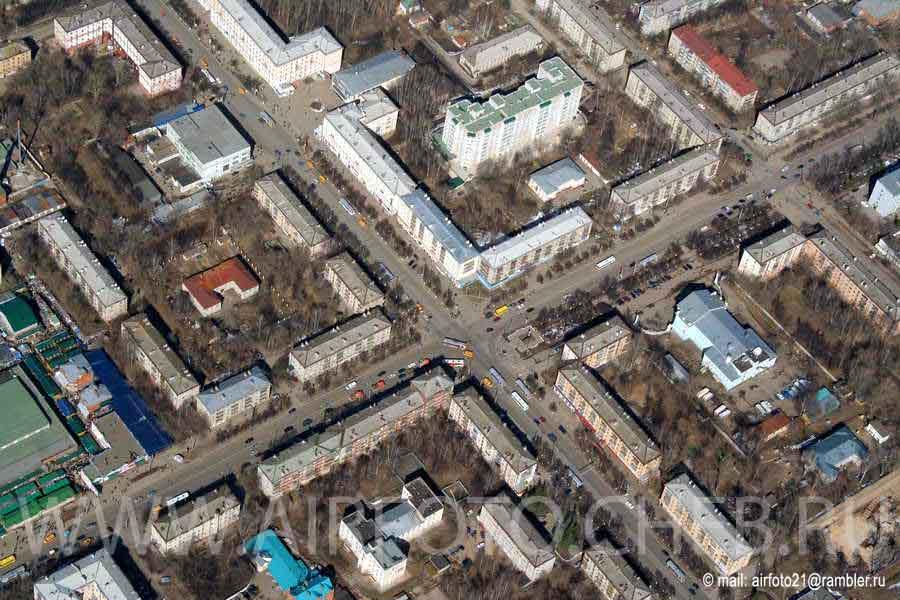 Пересечение проспекта Ленина и улицы Гагарина