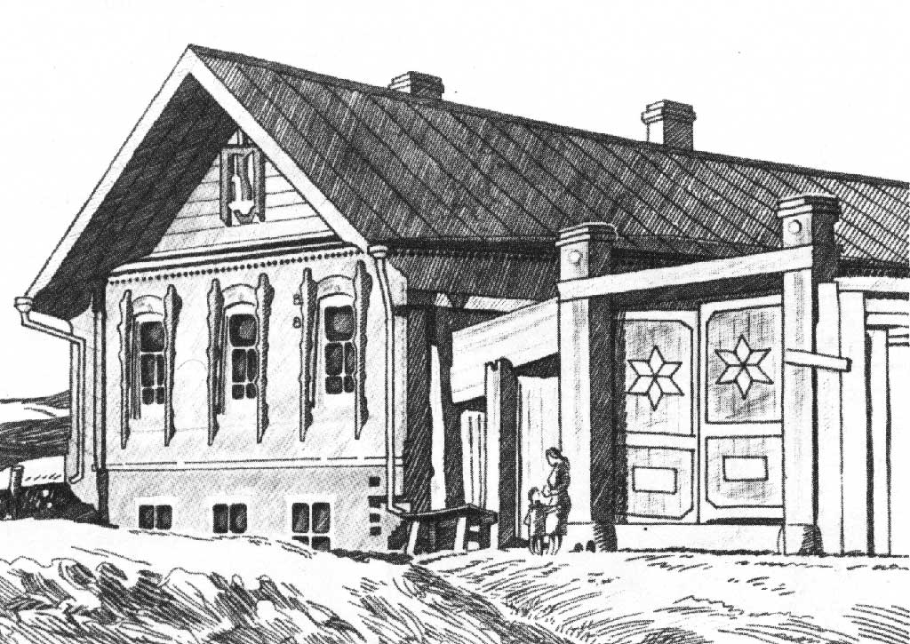 что-то татарский дом рисунок исследование, посвященное