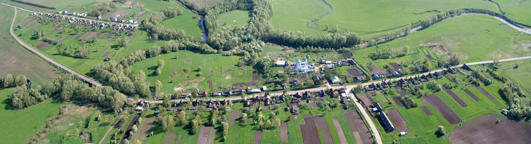 Вид сверху на село Малое Чурашево