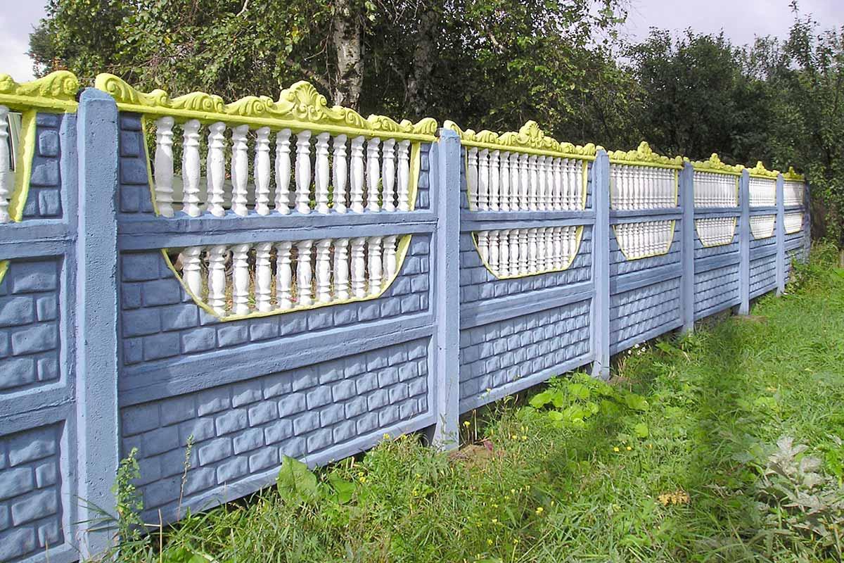 декоративный ж б забор