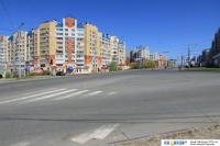 Перекрёсток улиц Лебедева, Университетская, Игнатьева и пр. Максима Горького