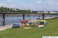 Развлекательный городок на Советской набережной