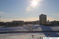 Вид на зимний залив