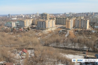 Вид на овраг между улицей Ярославская и Благовещенским