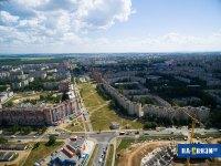 Вид с высоты на улицу Пролетарская