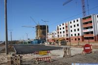 Строительство домов на улице Гладкова