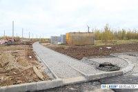 Строительство пешеходной дорожки